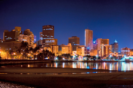 Durban Point Waterfront at Night